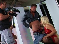 Latex Blonde In  Video