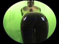 Check Out Her  In A Latex Catsuit
