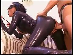 Full Latex Catsuit On Slut Taking Dick