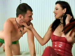 Submissive Slave Was Fucked In The Room