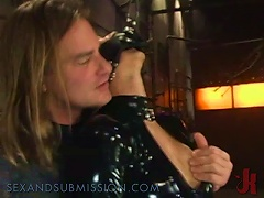Latex Covered  Gets A  Fuck In Bdsm Vid