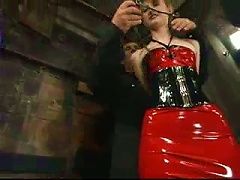 Brown Haired Kendra James Enjoys Being Tortured In Latex