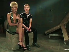 Dude In Latex Suit Gets Fucked By A Filthy  Nyobi