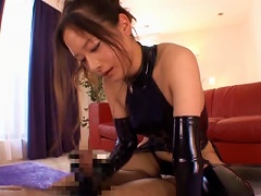 Horny Asian In Latex Lingerie Gets The  Sex Of Her Life Time