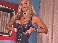 Perfect Body Pornstar Strips From Latex
