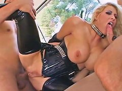 Big Tit Blonde Fuck Two Dicks As Hard As She Can Porn 84